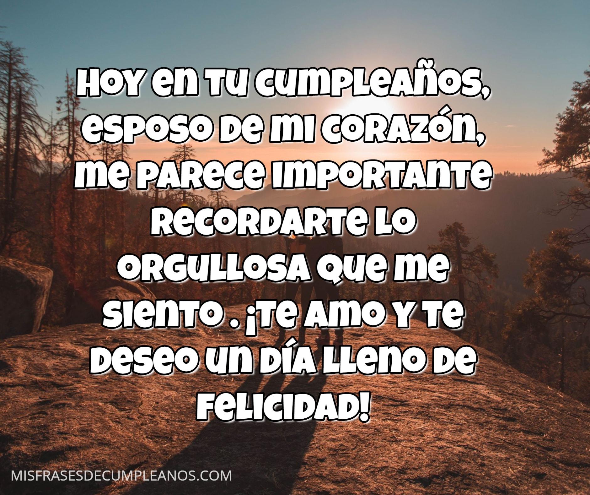 Espero poder celebrar por mucho tiempo contigo