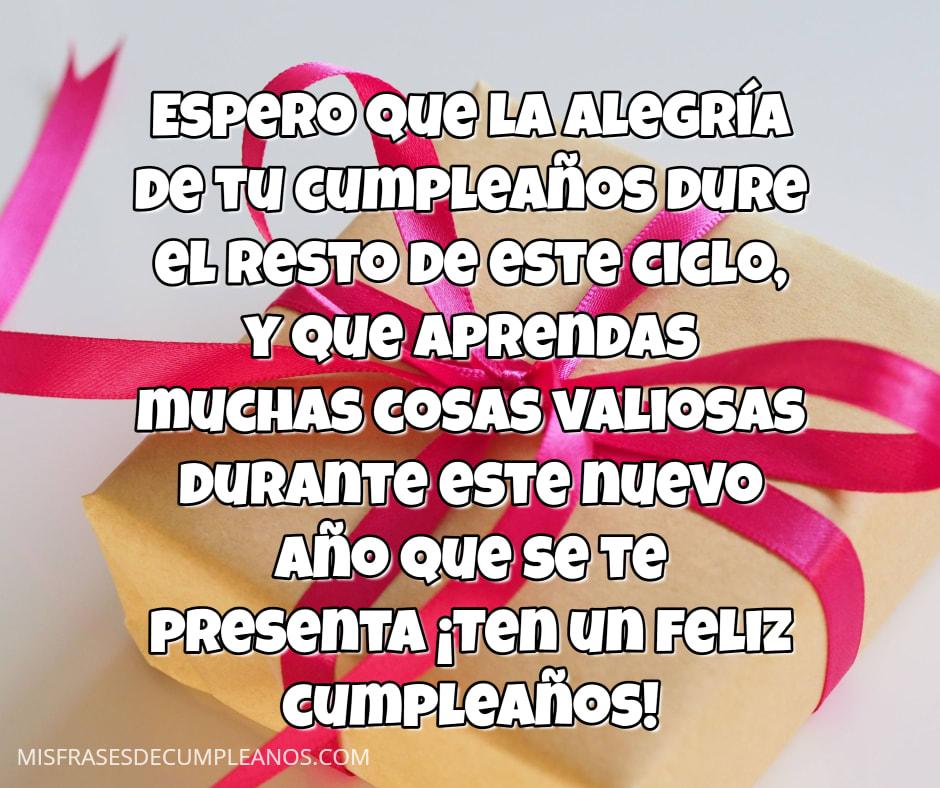 La alegría de tu cumpleaños